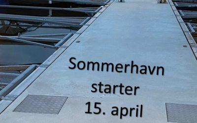 Sommerhavn fra 15. april